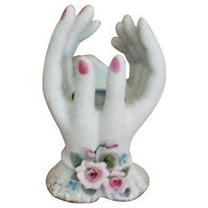 Hand Painted Lefton Ladies Hands Porcelain Bud Vase