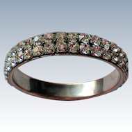 Large Rhinestone Bangle Bracelet