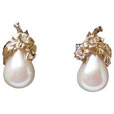 Avon Precious Pear Clip Earrings