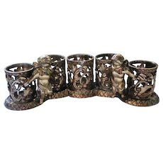 Five Station Ormolu Cupid Vanity Angel Lipstick Holder