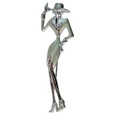 Lady in Hat Pin from JJ Jonette Jewelry