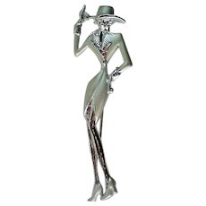 Lady in Hat Pin from JJ Jonette Jewelry