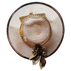 Wire Mesh Summer Hat Pin