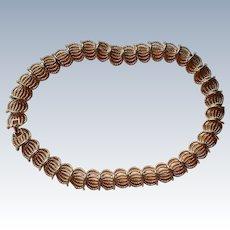 Napier Gold tone Link Choker Necklace