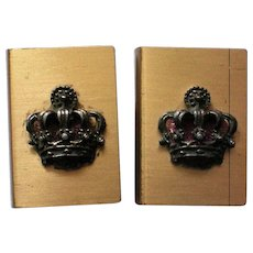 Matchbox Holders with Royal Crown Emblem