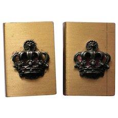 Matchbox Holders with Royal Crown Emblem