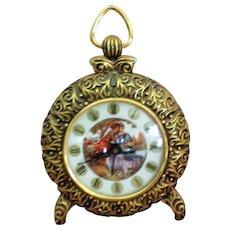 Metal Ormolu Wind Up Alarm Clock