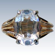 Rock Crystal Solitaire Statement Ring