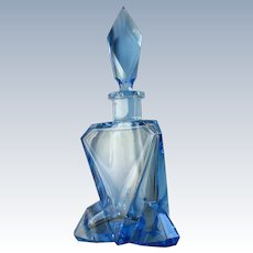 Sparkling Blue Geometric Perfume Bottle