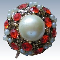 HUGE faux Pearl Statement Ring