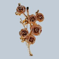 Golden Wire Mesh Roses Pin