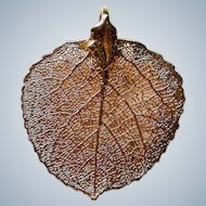 Colorado Gold Plated Aspen Leaf Pendant