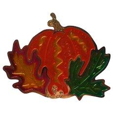Metal Halloween / Thanksgiving / Fall Pumpkin Pin