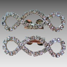 Pair of Rhinestone Shoe or Fur Clips