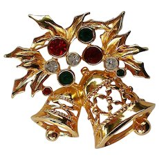 Avon Joyous Bells Christmas / Holiday Pin
