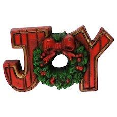 Hallmark Cards Holiday JOY Pin for Christmas