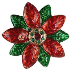 Red and Green Poinsettia For Christmas Holidays