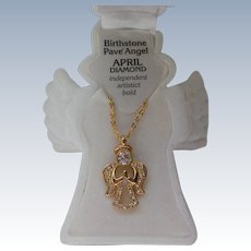 Birthstone Angel Pendant for Christmas Holidays