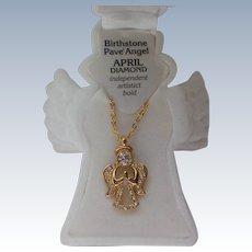 Birthstone Angel Pendant for Christmas Holidays