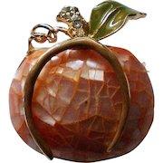 Liz Claiborne Pumpkin Pin for Halloween Fall Holidays