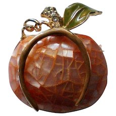 Liz Claiborne Pumpkin Pin for Halloween Fall Holidays