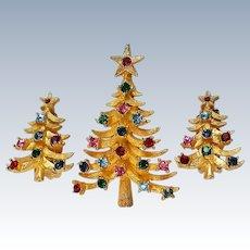 Book Piece MYLU Christmas Tree Pin with Earrings Set