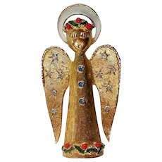 Signed ART Christmas Holiday Angel Pin