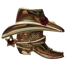 Cowboy Boot and Hat Pin