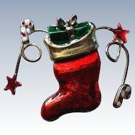 Santa Christmas Boot Stocking for the Holidays
