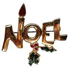 NOEL Pin for the Christmas Holidays
