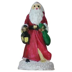 Primitive Three Dimensional St. Nickolas Santa Pin for Christmas Holidays