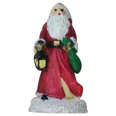 Primitive Three Dimensional St. Nickolas Santa Pin for Christmas Holidays