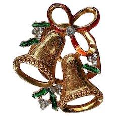 Jingle Bells Christmas Holiday Fur Clip