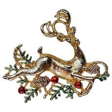 Sassy Reindeer Pin for Christmas  Holidays