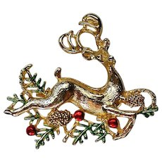 Sassy Reindeer Pin for Christmas  Holidays