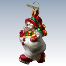 Christopher Radko Skating Snowman Christmas Tree Ornament