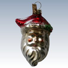 Christopher Radko Santa Head Christmas Holiday Ornament