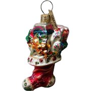 Christopher Radko Christmas Stocking Christmas Holiday Ornament