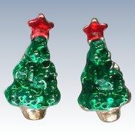 Petite Christmas Tree Pierced Earrings