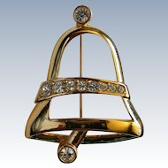 Napier Gold tone Bell for the Christmas / Winter Holidays