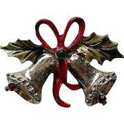 Joyous Bells Christmas Pin