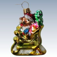 Christopher Radko Teddy Bear Christmas Holiday Ornament
