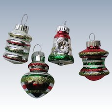 Radko Shiny Brite Miniature Christmas Holiday Ornaments