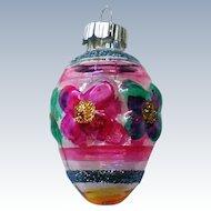 Radko Shiny Brite Miniature Christmas Holiday Glass Ornament