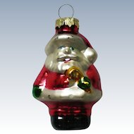 Vintage Mercury Class Miniature Santa Christmas Tree Ornament
