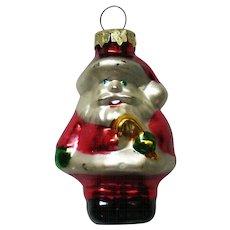 Vintage Mercury Class Miniature Santa Christmas Tree Ornament