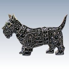 Marcasite Scottie Dog Pin