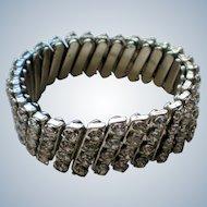 Mid-Century Rhinestone Expansion Bracelet