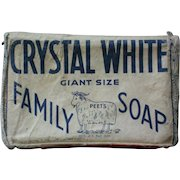 Vintage Crystal White Family Soap