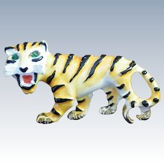 Weiss Enameled Tiger Pin